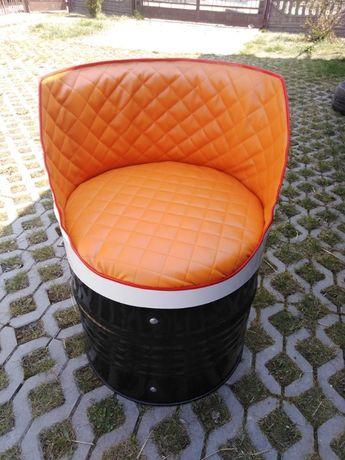 Meble Fotele ogrodowe z beczek