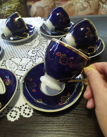 Сервиз Довбыш СССР 70-е посуда чайная пара тонкий фарфор винтаж