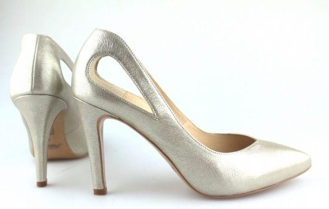 Buty ślubne Kotyl złote