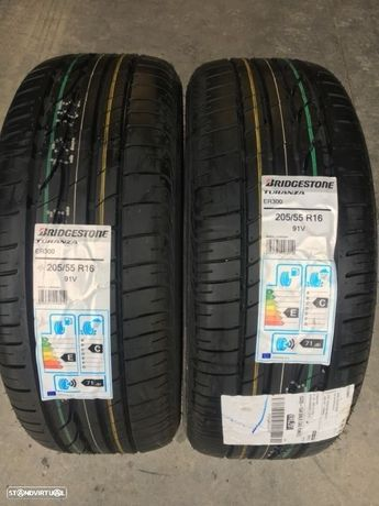 2 pneus novos bridgestone turanza 205/55/16 - Entrega grátis