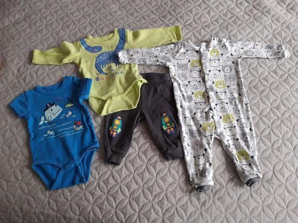 Zestaw niemowlęcy body pajac spodnie rozmiar 68