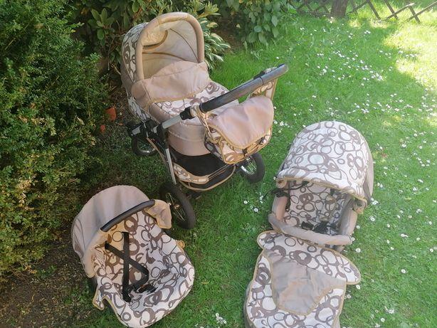 Wózek 3w1 gondola spacerówka fotelik
