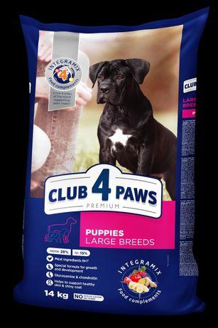 Сухой корм Клуб 4 Лапы Premium для щенков крупных пород