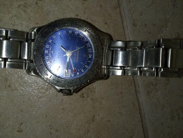 Relógio aço inox Sigma suíço