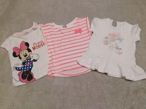 Koszulki dla dziewczynki na krótki rękaw zestaw