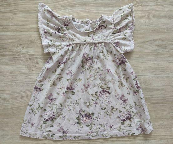Sukienka w kwiaty newbie, rozmiar 80
