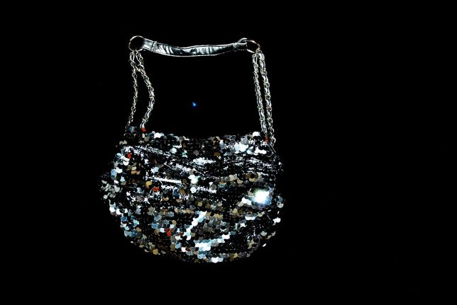 Сумка NEXT блестящая пайетки нарядная вечерняя средняя платье