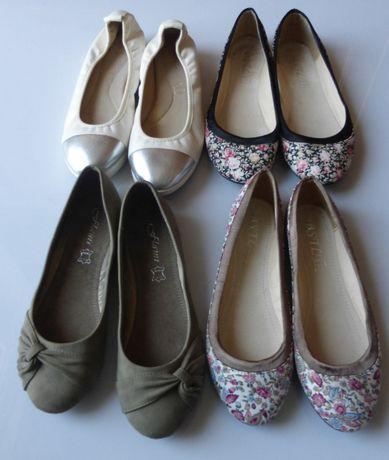 Baleriny czółenka obcas 5 pary j NOWE 37 zestaw buty Balerinki baletki
