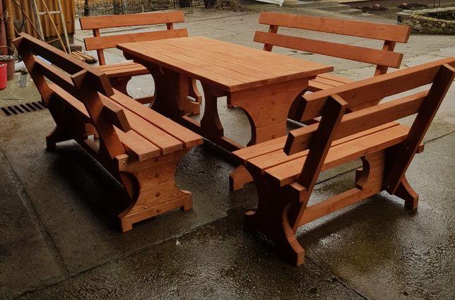 Zestaw Komplet ogrodowy meble ogrodowe stół ławki ławka