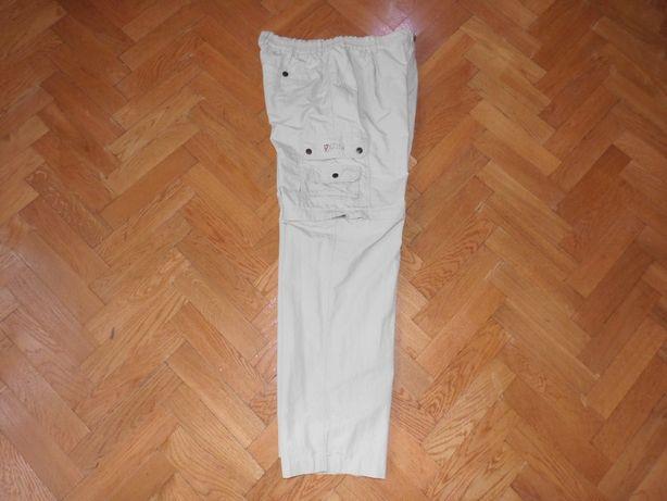 Oryginalne FJALLRAVEN spodnie spodenki trekkingowe odpinane nogawki
