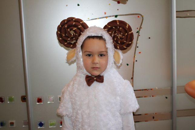 Карнавальный костюм для мальчика Барашек, белый бык