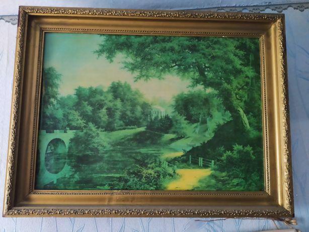 Картина живопись антиквариат 60-70 года.