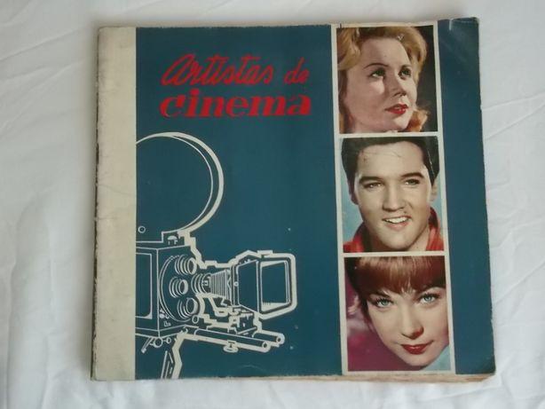 Caderneta de cromos Artistas de cinema 1965