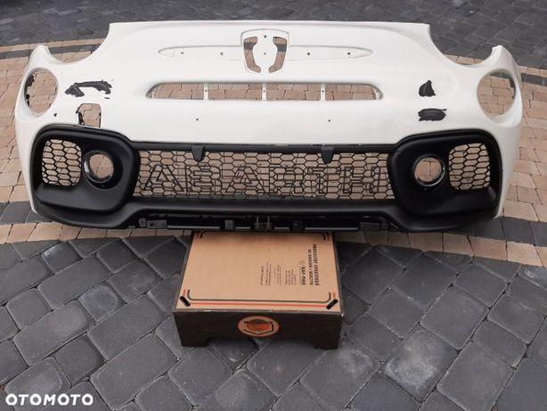 FIAT 500 ABARTH 595 LIFT 15- ZDERZAK PRZÓD PRZEDNI+KRATKI+CHROMY ORYG. FIAT NR 735633044 WYSYŁKA 24h