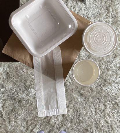 Embalagens ecologicas de compostagem vegan