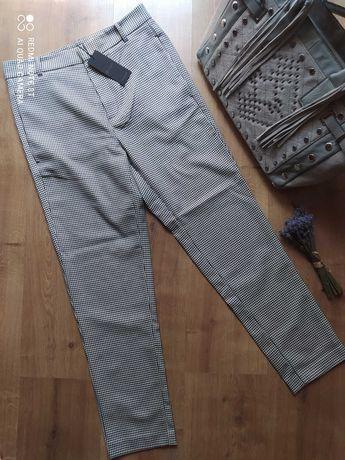 Укороченые осенние брендовые брюки р. 44-46, высокая посадка!