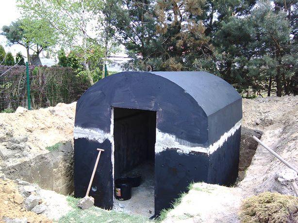 Piwniczka piwnica betonowe ziemianka z szamba betonowego ogrodowa