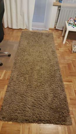 Dywan shaggy 100 x 280cm odcienie brązu