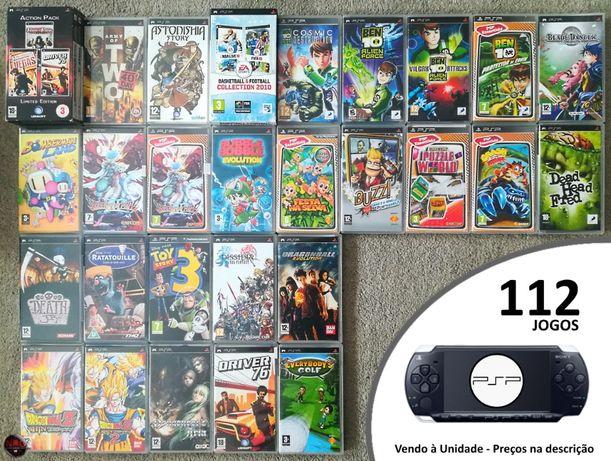 [PSP] 112 Jogos PSP + Acessórios (Vendo à Unidade)