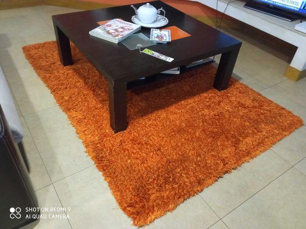 Tapete usado cor laranja