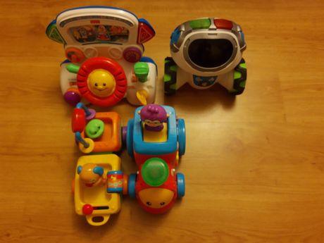 Fisher Price zabawki pociąg kierownica robot