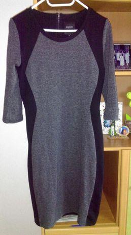 Dopasowana czarno-szara sukienka Reserved roz. L