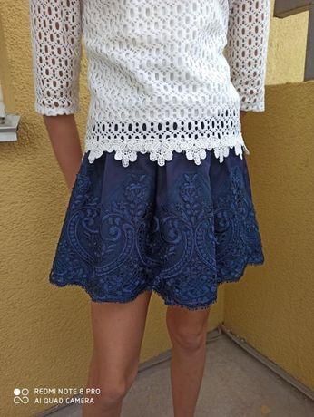 Очень красивая синяя школьная юбка на девочку рост 128
