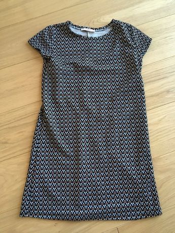Prosta krótka materiałowa sukienka pull&bear S