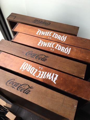 Stojak paleta stoł renowacjA retro odnowa drewniany vintage
