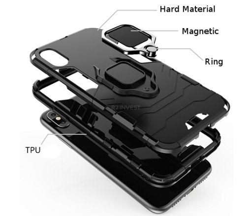 Etui IPHONE XR (6,1) ARMOR RING czarne