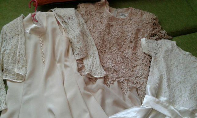 Idealne 2 sukienki na komunie- 1 GRATIS.