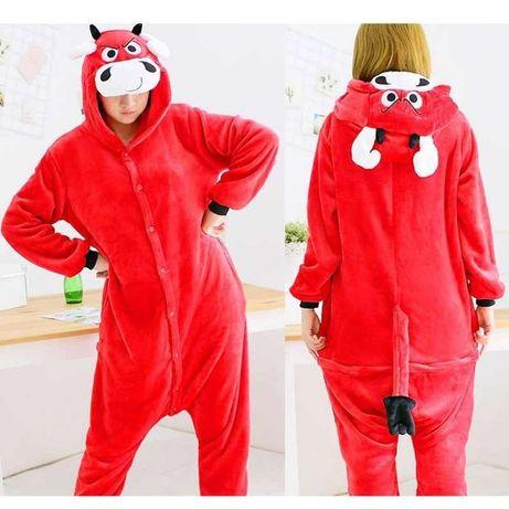Взрослый кигуруми Пижама Красные бык Оригинал кигуруми