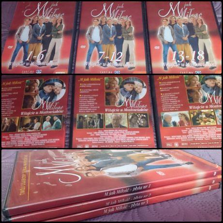 Zestaw 3x DVD - M jak Miłość. Pierwsze 12 odcinków