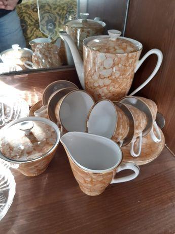 Винтажный фарфоровый чайный сервиз. Porcelana Włocławek. Польша 70-е.