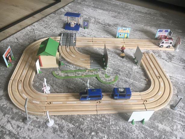 Drewniana aurostrada montessori zabawka sensoryczna