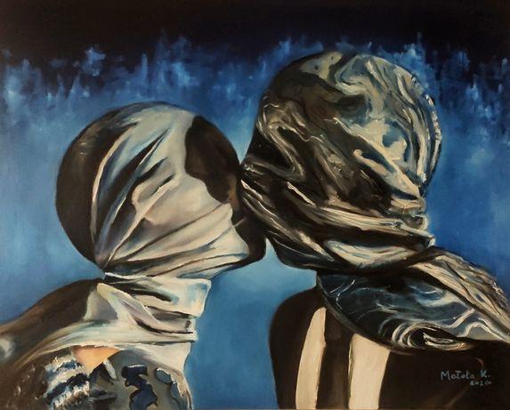 Obraz olejny pocałunek 50x40 cm olej