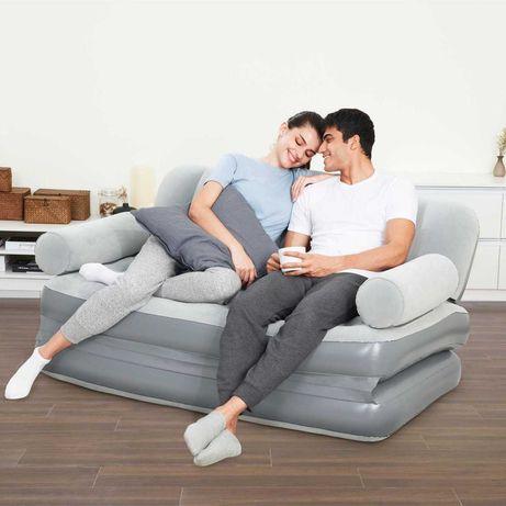 Надувний диван 188 х 152 х 64 см, з електричним насосом і подушками.