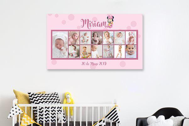 Telas com 13 fotos do bebé - oferta dos Portes de envio
