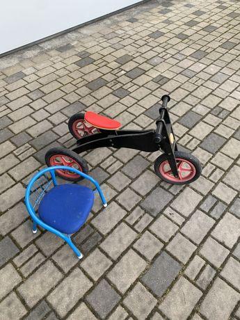 Rowerek dzieciecy 3 i 2 kołowy ,pchacz krzeselko