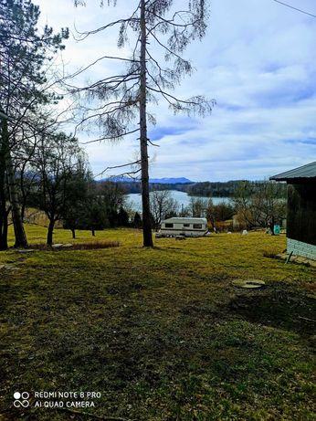 Działka rekreacyjna nad jeziorem w górach na Śląsku