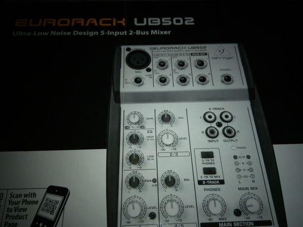 MIKSER Behringer eurorack UB 502 jak nowy !! Radio Panasonic gratis !