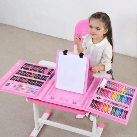Большой кейс набор для рисования и детского творчества 208 предметов