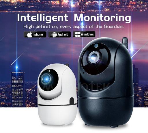 Camera Video Vigilância 360º Rotativa WiFI APP Android IOS 1080P NOVA