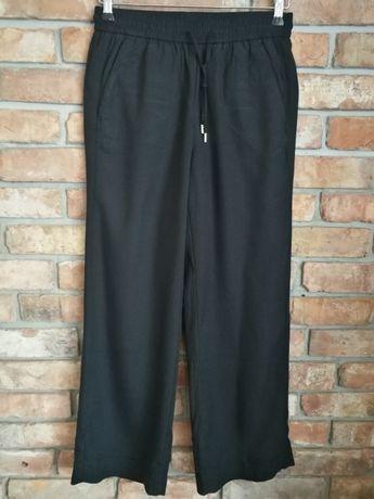 Spodnie granatowe szeroka nogawka H&M / ciążowe