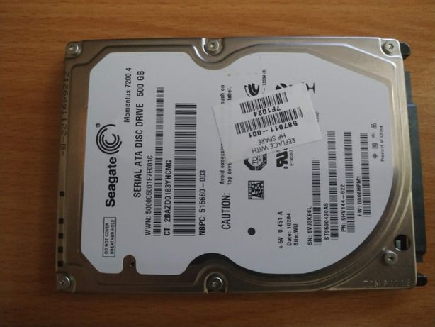 "Disco sata hdd 2,5"" 500GB - já com o windows 10 Pro 64bit instalado"