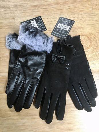 Rękawiczki skórzane skóra