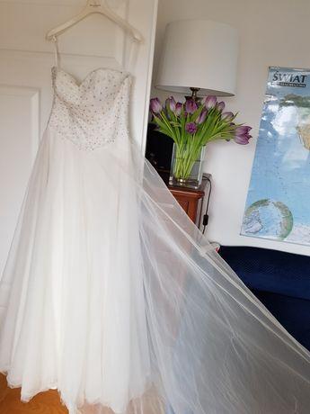 Suknia ślubna nowa r.40 tiulowa
