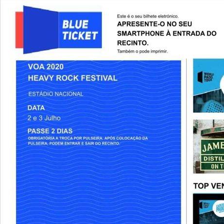 2 Passes 2 dias Voa Music Festival