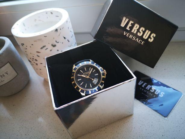 Zegarek Vesus Versace unisex czarny / złoty