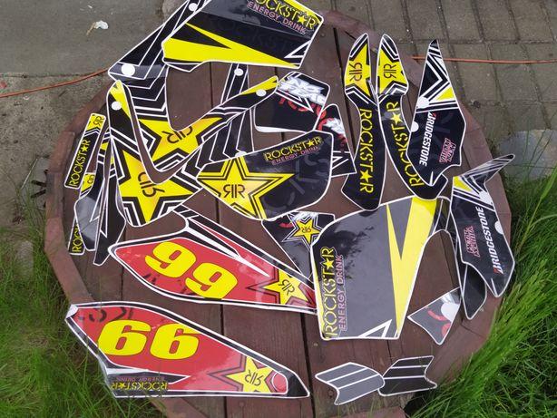 Okleina rockstar 66 naklejki honda naklejka Yamaha dt 125 Suzuki ktm